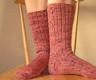 ravelry: cable rib socks pattern by erica alexander