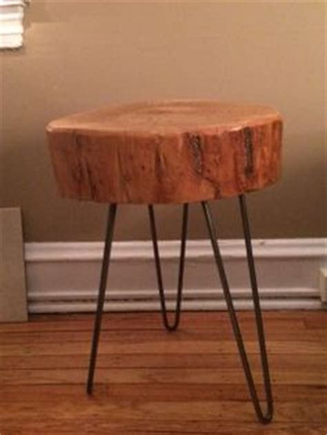 1000 images about stump end tables with metal hairpin