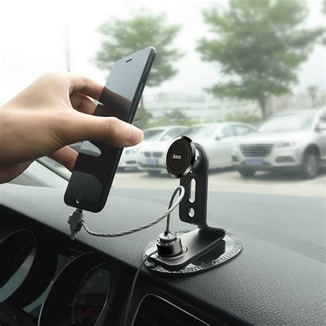 Hoco Kabel Charger Magnetic Type C Smartphone U20 Black hoco multifuctional magnetic car holder with 3 in 1