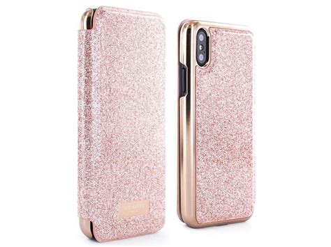 Softcase Mirror For Iphone X ted baker peri folio gold iphone x hoesje