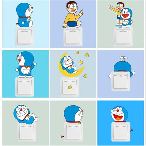 Wallsticker Doraemon 2 2015 the new wall stickers japanese character nobita and doraemon lovely cats wall stick