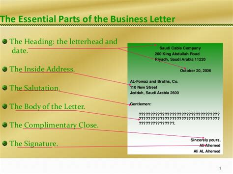 Essential Parts Of Business Letter Pdf session 3