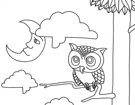 owl moon coloring page moon and owl coloring page moon and owl coloring page jpg