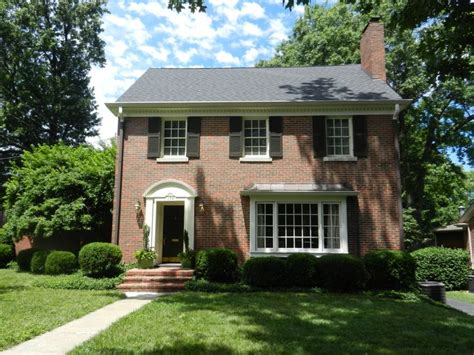 brick federal style house search home