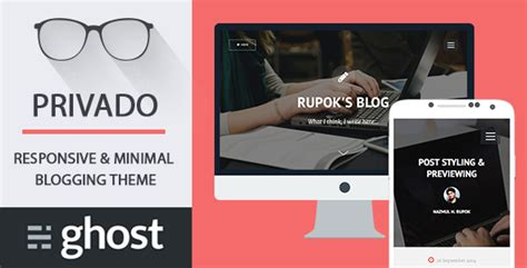 themeforest ghost privado minimal blogging theme for ghost by codetic