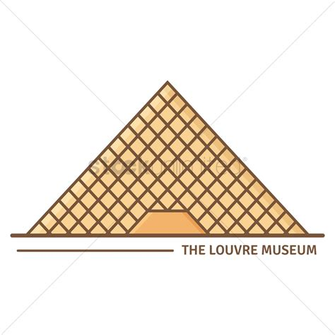 clipart vector louvre pyramid clip cliparts
