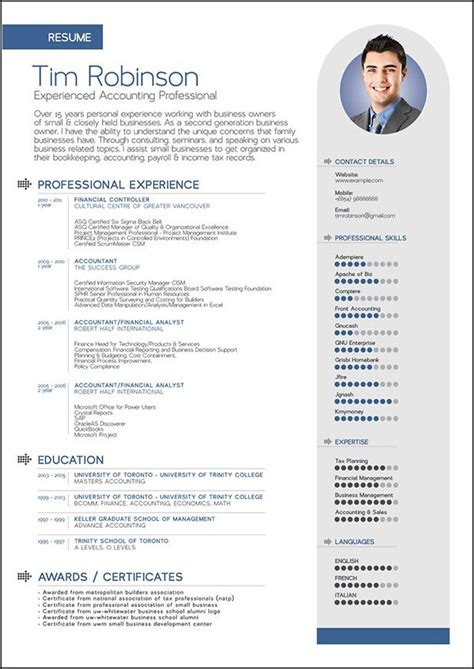 advanced cv template 25 best ideas about curriculum vitae exles on