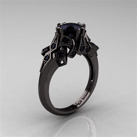 Verlobungsringe Schwarz Silber by Edwardian 14k Black Gold 1 0 Ct Black Engagement