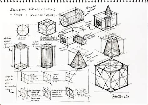 6 Drawing Techniques by Design Journal Sos Drawing Basics Isometric Drawing