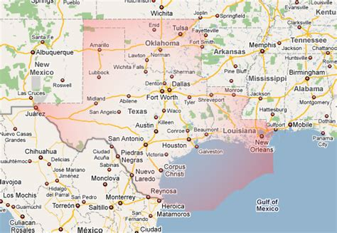 map texas louisiana texas and louisiana map map