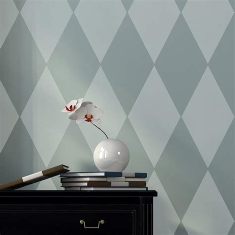 harlequin pattern on wall harlequin wall furniture stencil modern or retro diy