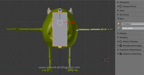 tutorial blender 3d membuat karakter rigging karakter blender 3d mike monster university dengan