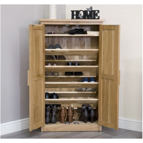 Arden solid oak hallway hall furniture shoe storage