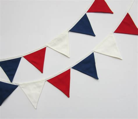 Pennant Banner Personalize It Blue 129254 79 M white and blue mini bunting mini flag banner mini fabric