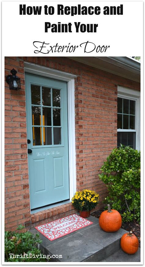 How To Replace Front Door by How To Install An Exterior Door And Paint It With An Exterior Door Paint