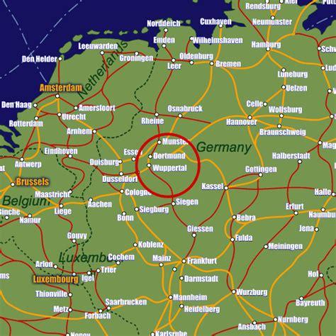 dortmund map of germany dortmund germany map