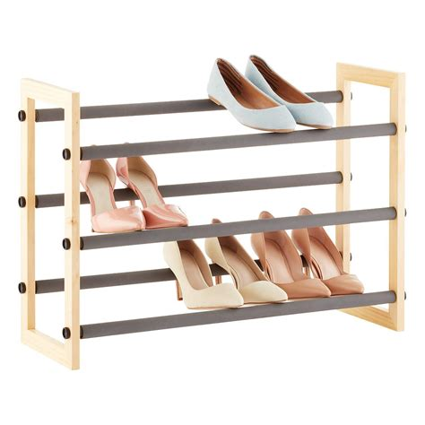 Shoe Rack For by 3 Tier Grippy Shoe Rack The Container Store