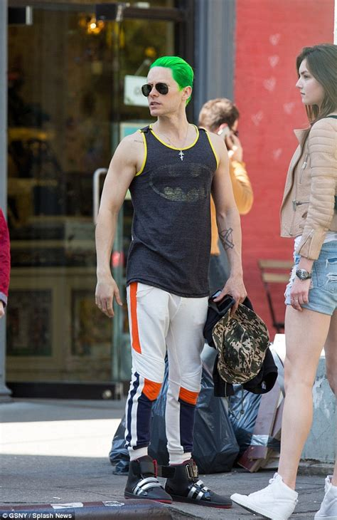 T Shirt Batman Enemy jared leto wears a batman t shirt despite the