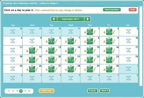 free school volunteer sign up sheet template online