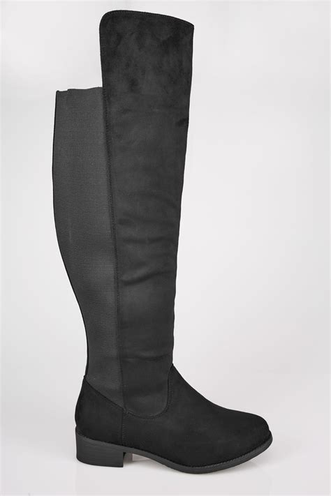 Boots Gift Cards Terms And Conditions - black xl calf over the knee boots with stretch panel sizes 4eee to 10eee
