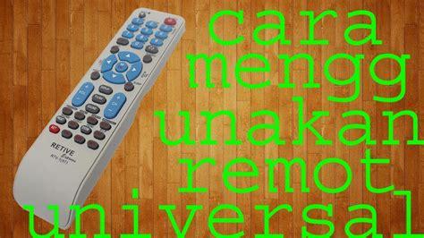 Remote Tv Serbaguna Multi kode remot tv general cara setting remote universal