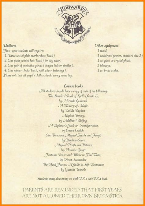 harry potter acceptance letter template harry potter letter sle fresh illustration quotes best