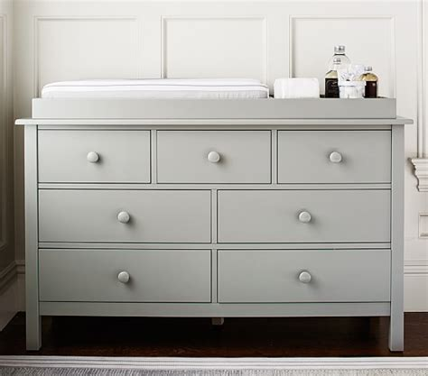Changing Table On Top Of Dresser Kendall Wide Dresser Topper Set Pottery Barn