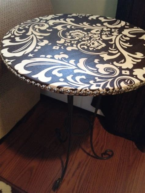 how to seal wood table cover tables with fabric and use mod podge to seal i