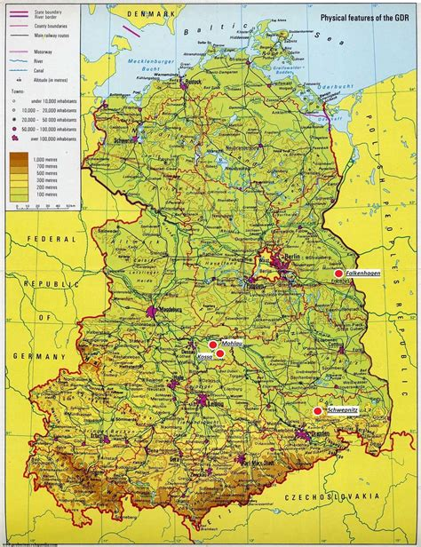 map of east germany trans european rapid response operatives july 2011