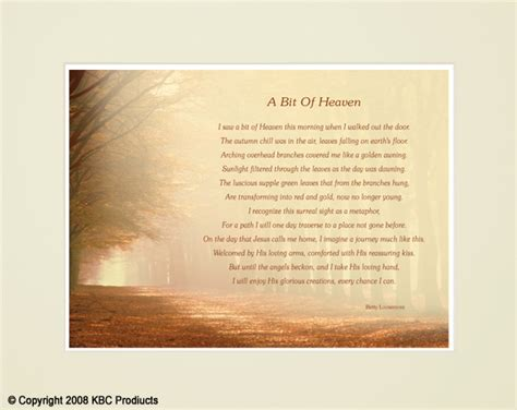 heaven poem kbc products heartfelt poetry for any occasion available in matted and framed