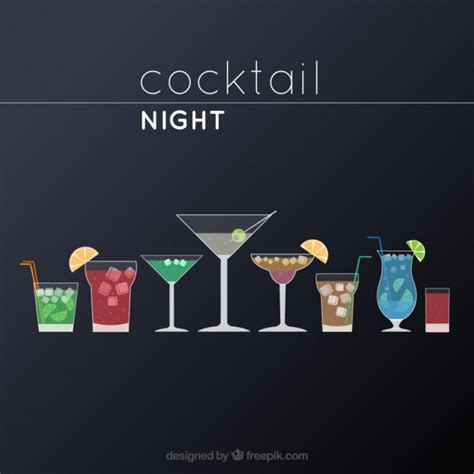 cocktail vector cocktail night vector free download