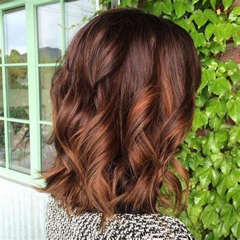 brunette hairstyles with copper highlights 60 hairstyles featuring dark brown hair with highlights
