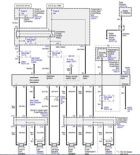 2003 honda accord stereo wiring diagram wiring diagram