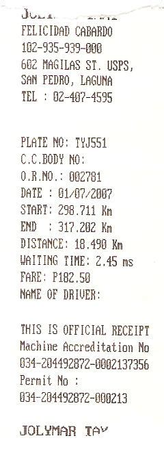 taxi receipt template philippines taxi receipt in the philippines time lpg