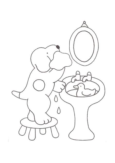 dribbel wassen dribbel kleurplaten kleurplaat