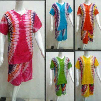 Setelan Baju Tidur Pendek Murah baju tidur setelan pendek tie dye kancing all size wanita
