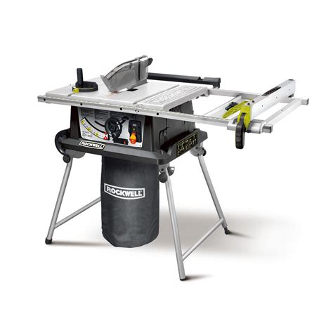 dewalt 15 10 in site table saw with rolling stand