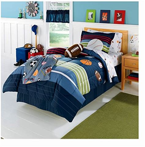 sports comforter set full mvp sports boys baseball basketball football full