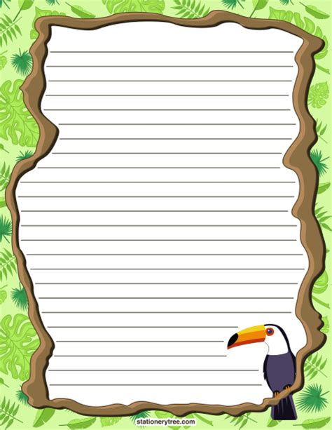 printable jungle paper printable rainforest stationery