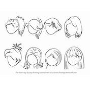 Learn How To Draw Anime Hair  Female Step By