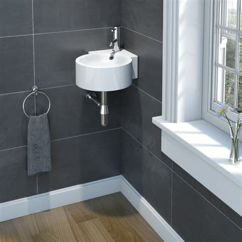 cloak room sp cloakroom collection corner basin 300mm stax trade centres