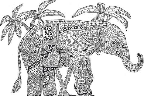 complicated elephant coloring pages complicated animal coloring pages coloring home