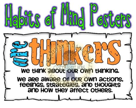 Habits Mighty Minds Best 20 Habits Of Mind Ideas On