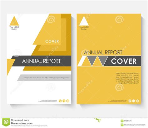 Yellow Marketing Cover Design Template For Annual Report Modern Minimalist Business Powerpoint Powerpoint Booklet Template