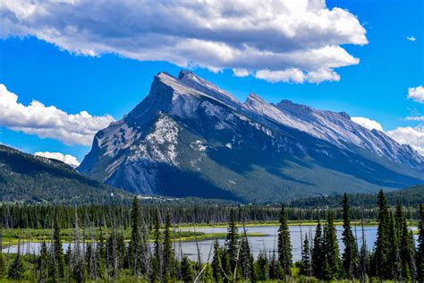 Is Stunning by Stunning View Of Mount Rundle In Banff Alberta Canada