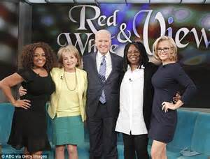In and out when the legendary barbara walters second from left left
