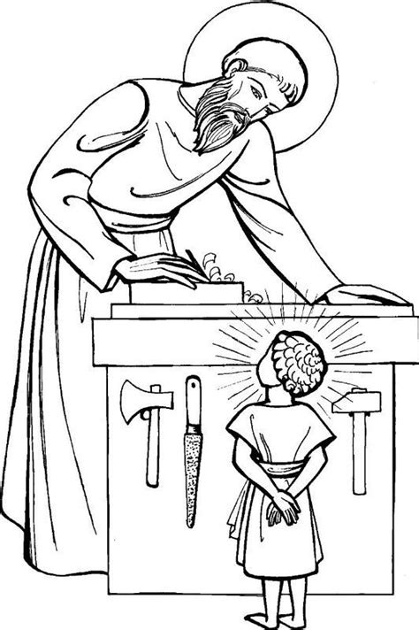 coloring pages st joseph st joseph coloring page for kids to colour coloriage