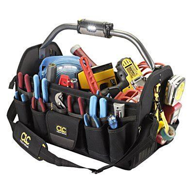 tool bag carrier clc big 47 pocket led lighted