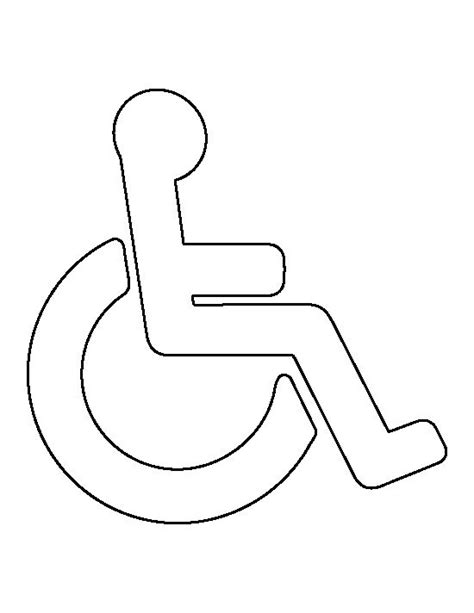 handicap symbol pattern use the printable outline for