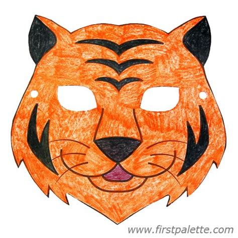 How To Make A Tiger Mask Out Of Paper - printable animal masks craft crafts firstpalette